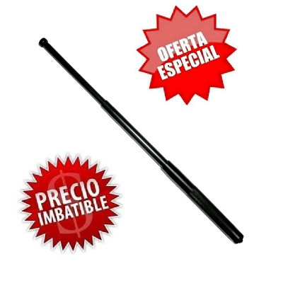 DEFENSAS EXTENSIBLES PACK EN ACERO DE 50 CM CON FUNDA SIMILAR AL CUERO