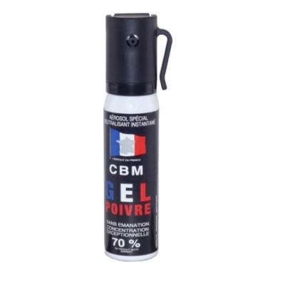 Spray defensa personal gas lacrimógeno en gel de pimienta CBM 25ml