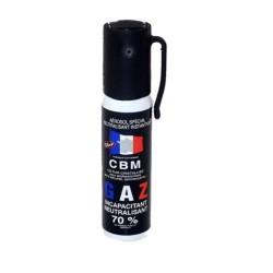 Spray defensa personal lacrimógeno en gas CS CBM 25ml