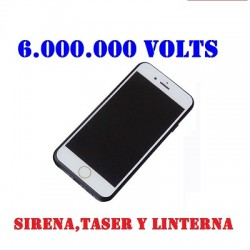DEFENSA ELECTRICA STUN GUN TASER TELEFONO I PHONE 6 CON 6.000.000 VOLTS