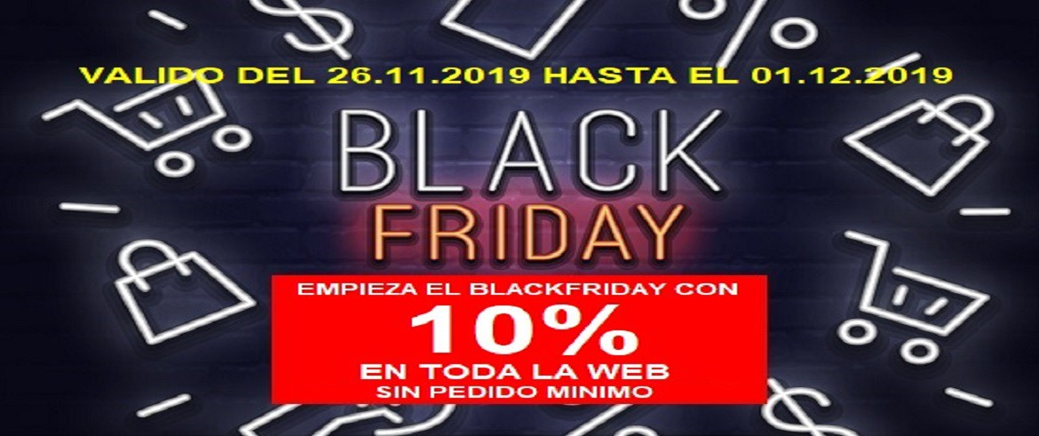 BLACKFRIDAY PROMOCION 10%